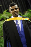 Darshan Govender was awarded a BCom Accounting Degree cum laude