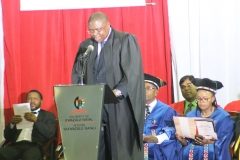 Mr Faisal Mkhize Guest speaker addresses the convocation