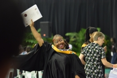 Excited after graduating