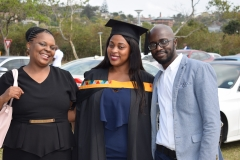 A proud moment for a graduand with her family