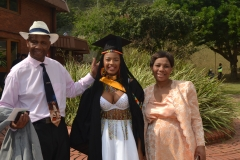 Ms Mathe Nkabanhle excited graduand with her family