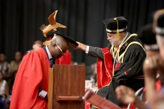 Dr Mfazo Madondo being Caped for Doctor of Philosophy