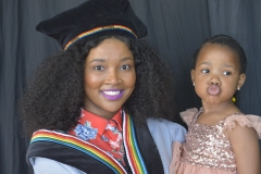 Convocation member Ms Xolile Kune with her daughter