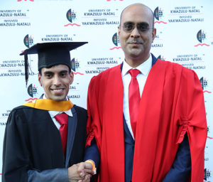 Mr Tarish Jagwanth with his supervisor Dr Rajen Rajaram.