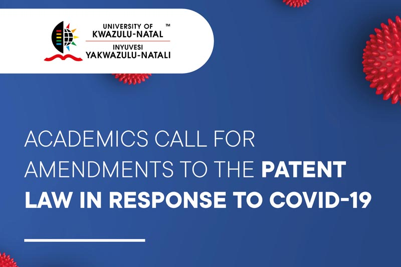 Academics call for Amendments to the Patent Law in response to COVID-19